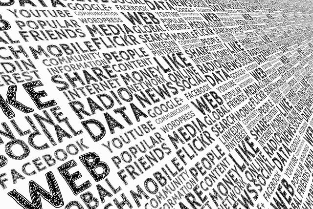 Sociální sítě slova