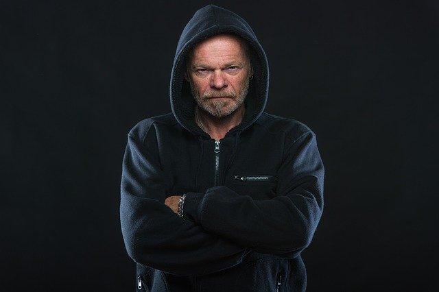rozzlobený muž