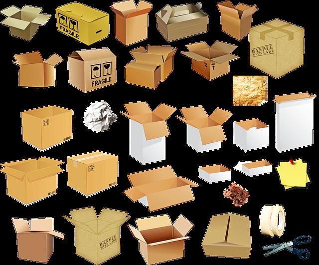 balení věcí do krabic