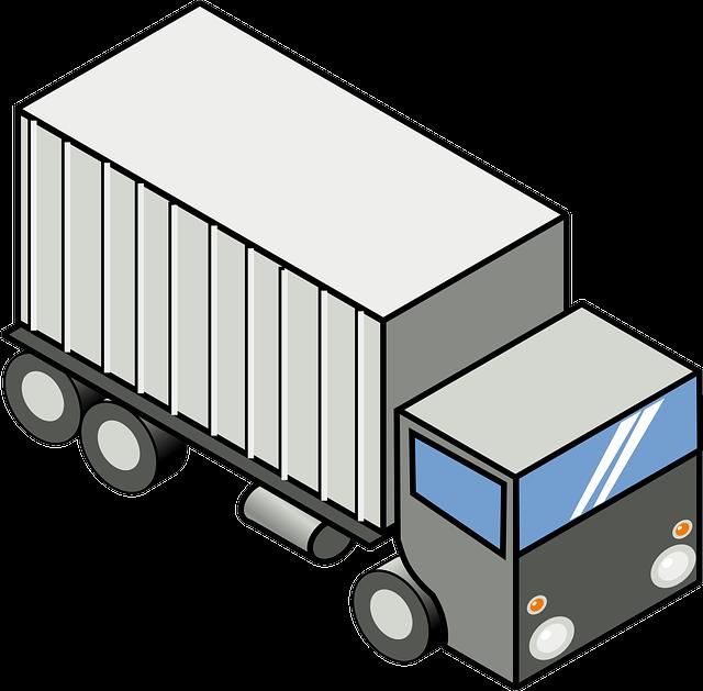 kresba stěhovacího vozu